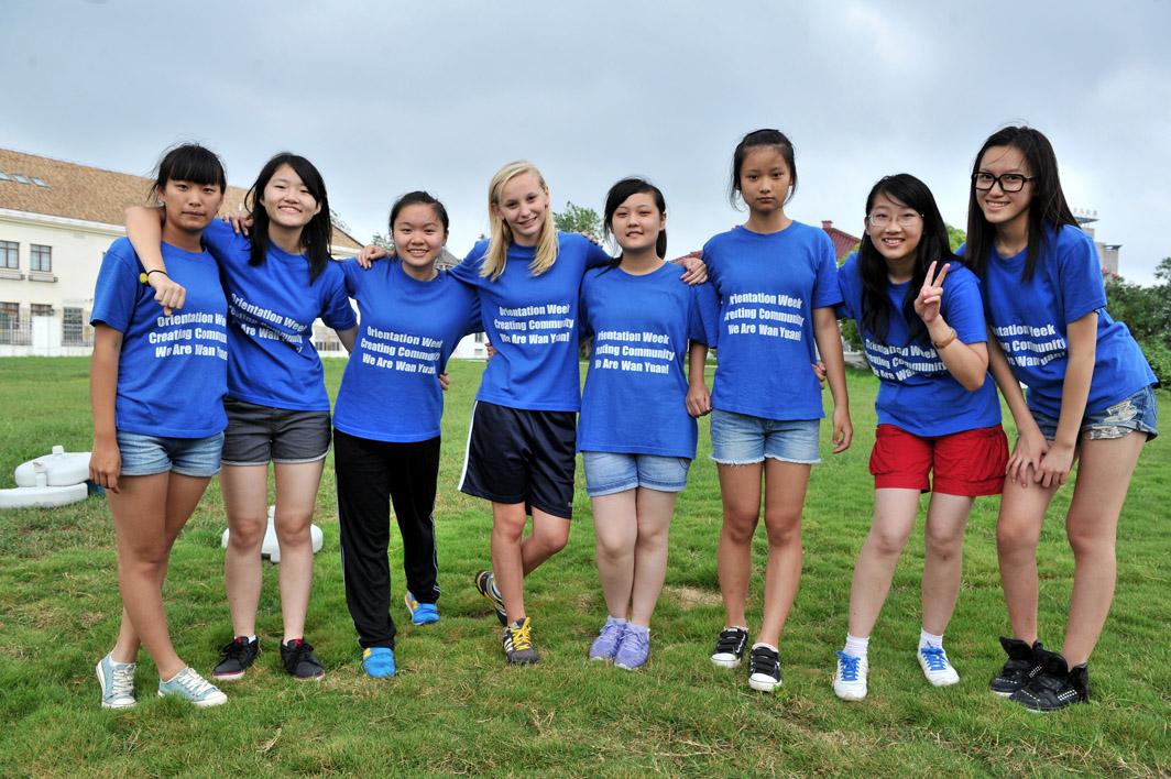 Photo of secondary school students at Shanghai United International School